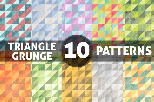 Triangle Grunge Patterns
