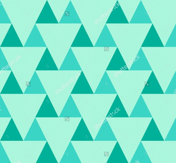 Cyan Triangle Pattern