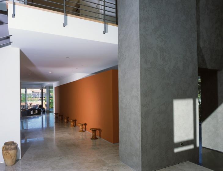 modern grey hallway