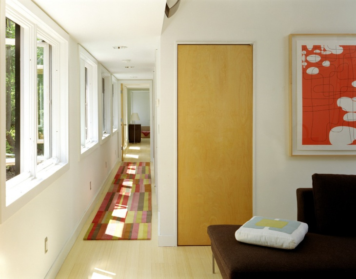 narrow modern hallway idea