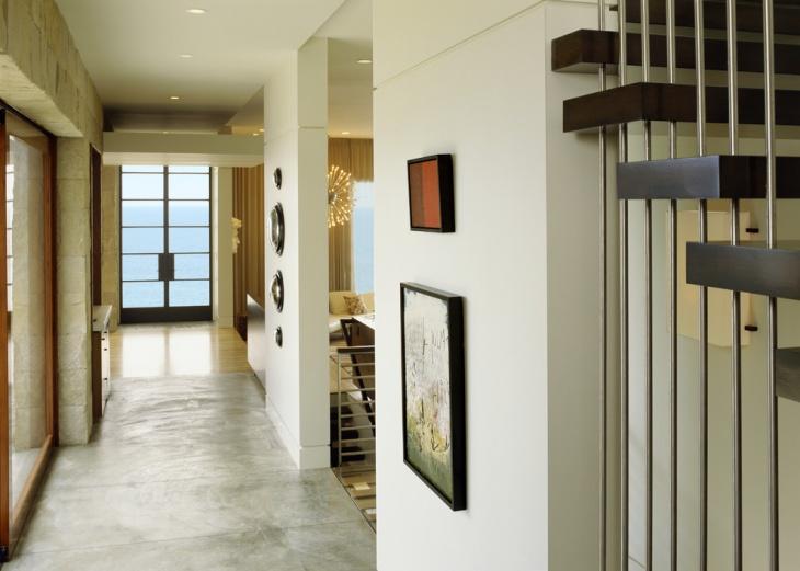 modern beach style hallway design