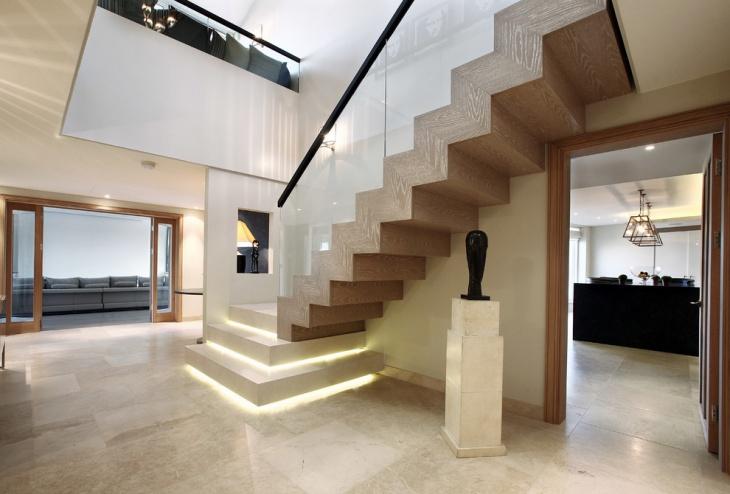 modern hallway stairs design
