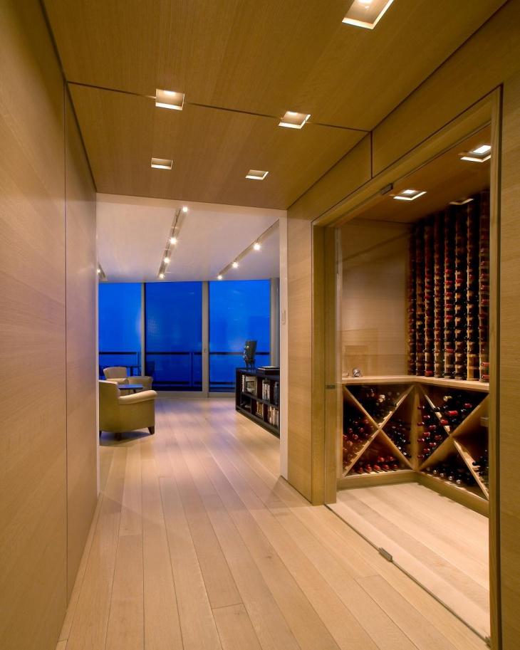 modern wood hallway design