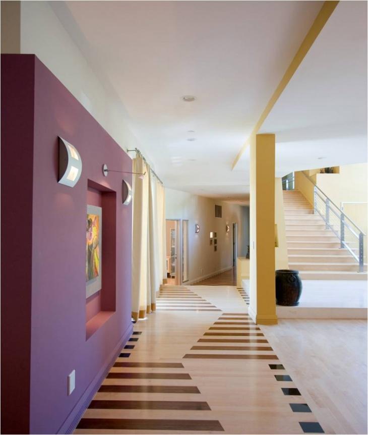 modern hallway flooring design