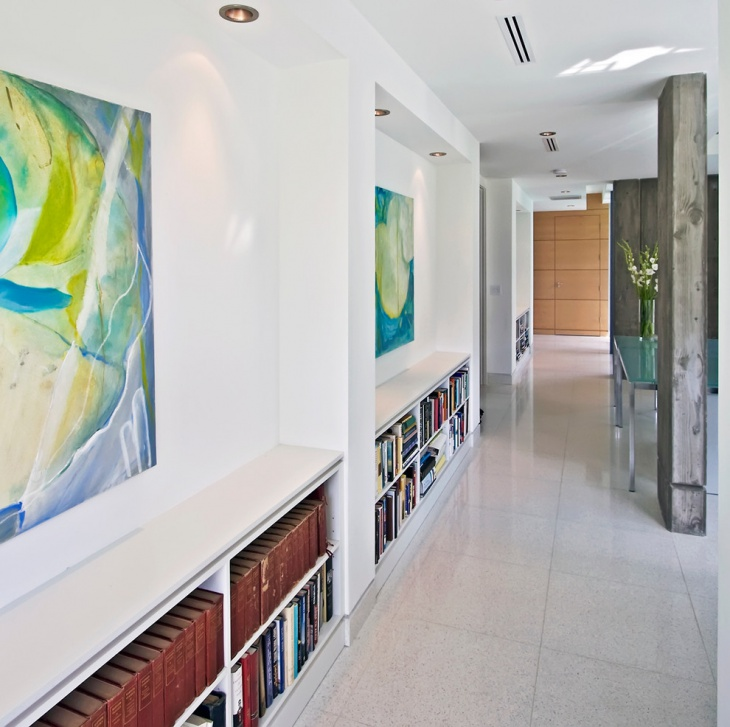 modern hallway book gallery