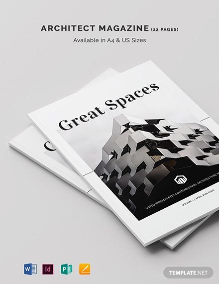 architect magazine template