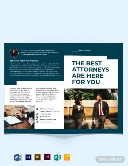 attorney bi fold brochure template