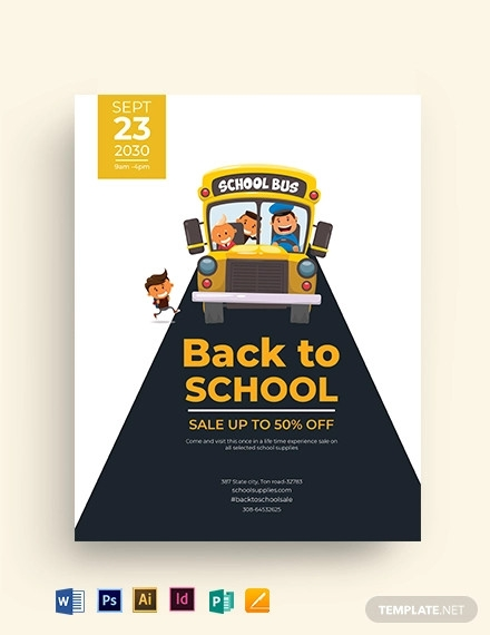 back to school flyer design template1