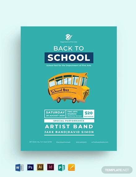 back to school flyer template1