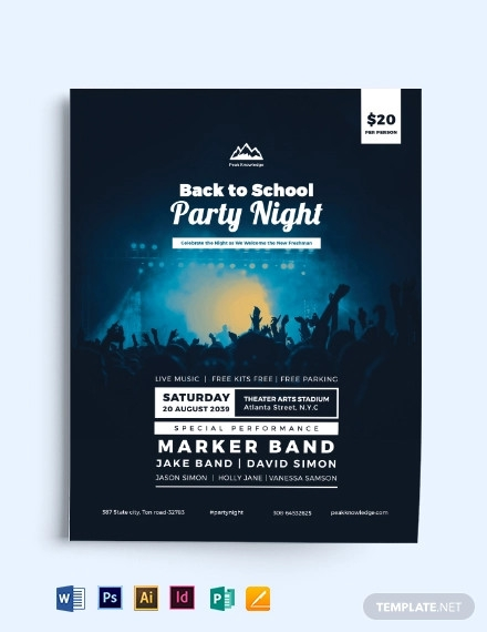 back to school party flyer template1