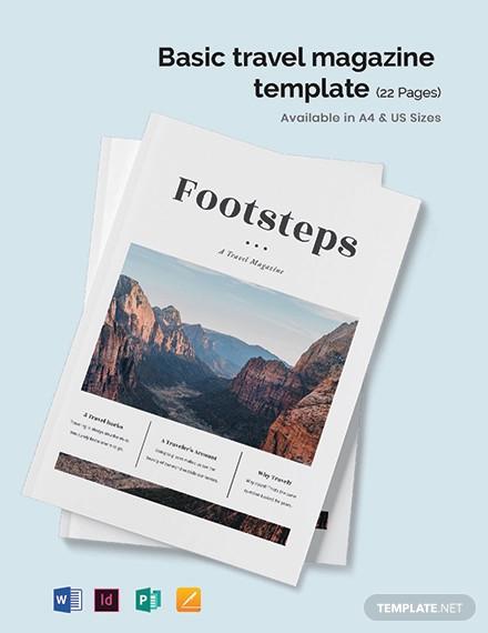 basic travel magazine template