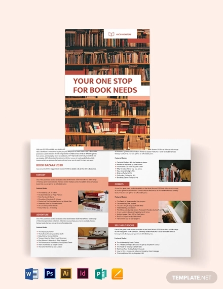 book bi fold brochure template