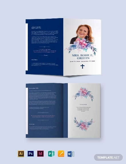 catholic funeral prayer bi fold brochure template