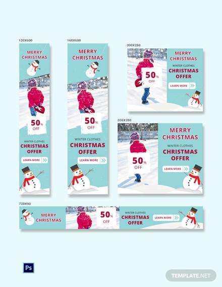christmas sale ad banner template