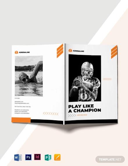 creative sport magazine template
