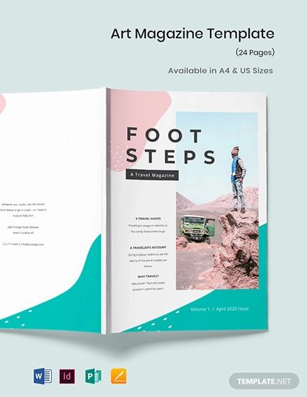 creative travel magazine template