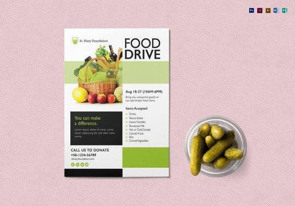 Editable Food Drive Flyer Template