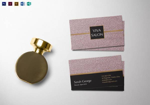 editable salon business card template 600x420