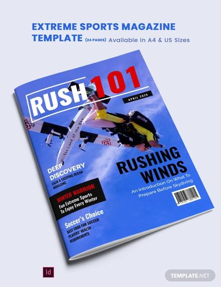 extreme sports magazine template