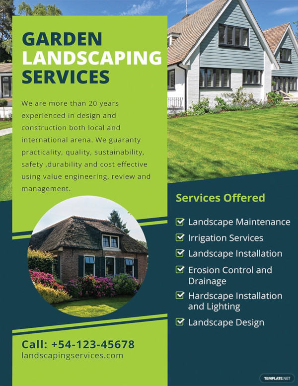 18  landscaping flyer designs