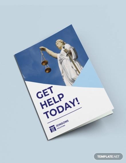 law firm bi fold brochure template