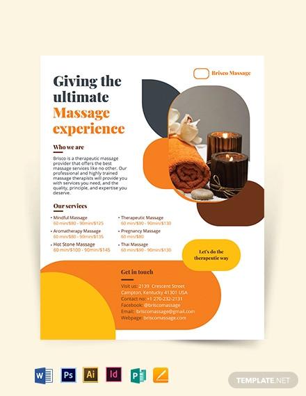 massage flyer template1
