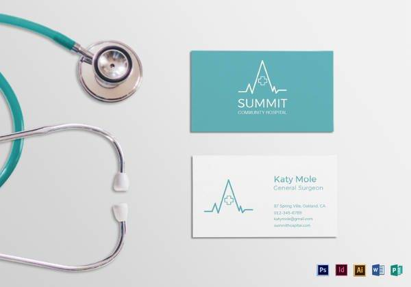 medical business card template 600x420