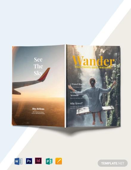 minimalist travel magazine template