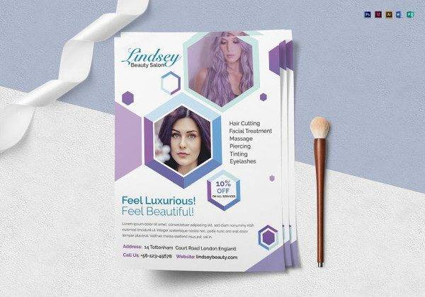 multipurpose beauty salon flyer template 600x420