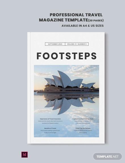 professional travel magazine template