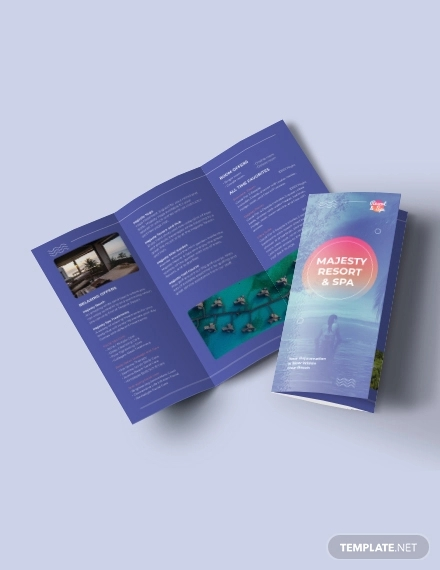 spa resort tri fold brochure template1