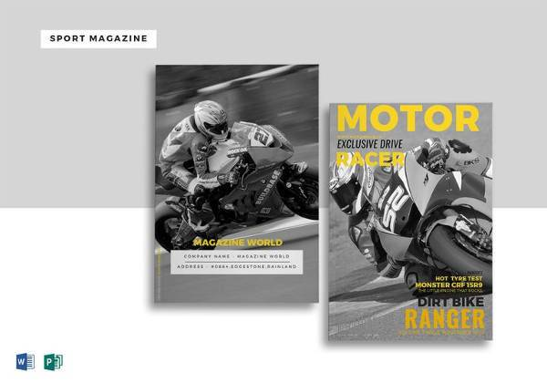 sports magazine template in word 600x420