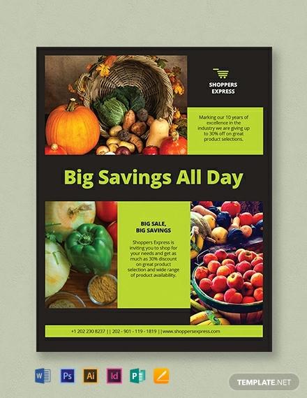 super market flyer