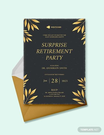 surprise retirement