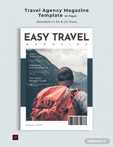 travel agency magazine template1