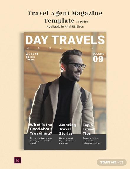 travel agent magazine template