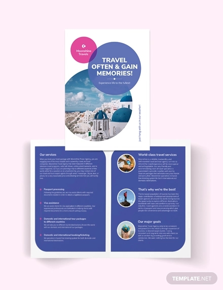 vacation bi fold brochure template