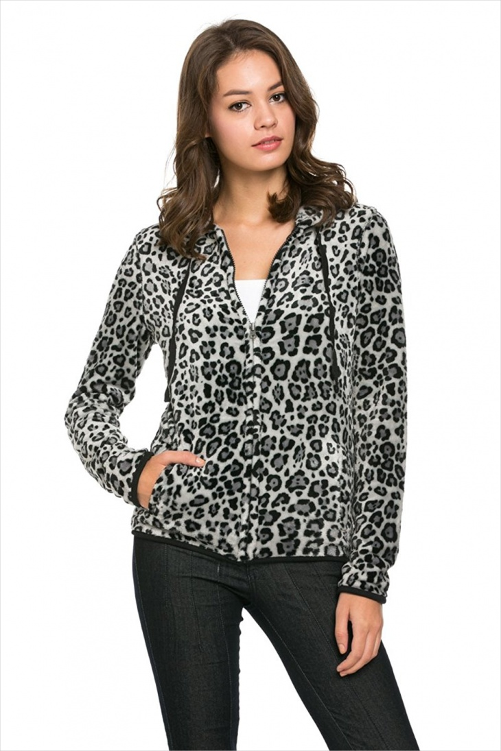 Women's Printed Fleece Jacket