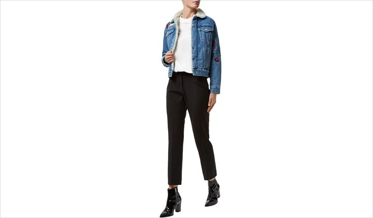 Women's Floral Denim Jacket
