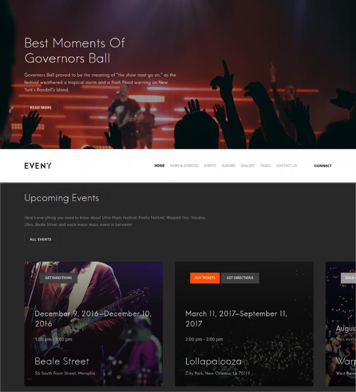 Modern Music Event WordPress Template