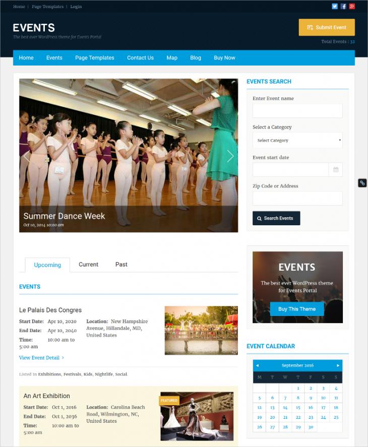 Widget Ready Event WordPress Theme