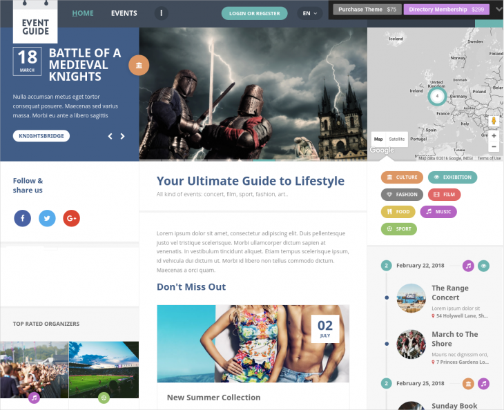 ideal event guide directory wordpress template