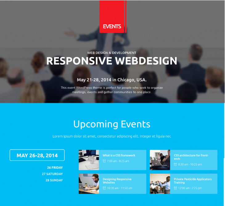 Full Featured Event WordPress Theme