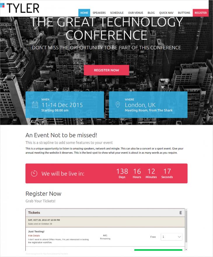 Advanced Event WordPress Template