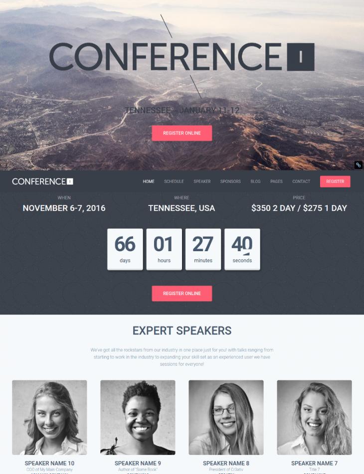 Premium Event WordPress Theme