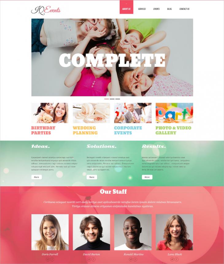 Custom Memorable Event WordPress Theme