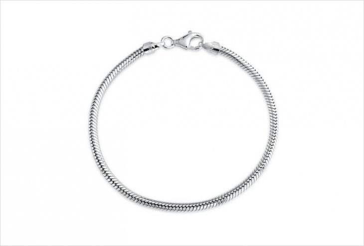 Silver Snake Chain Design