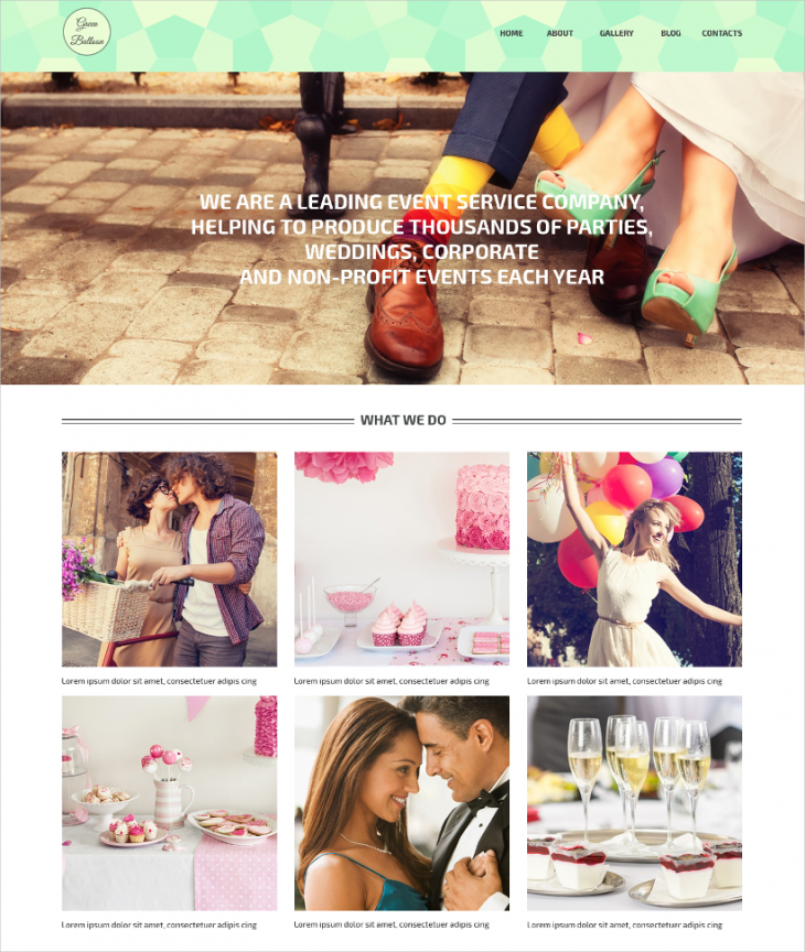 Event Manager WordPress Template