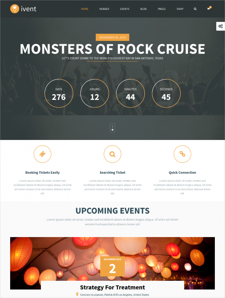 Elegant Multipurpose Event WordPress Template
