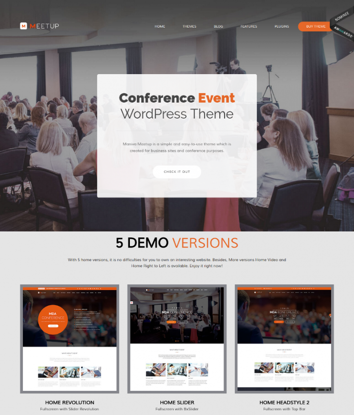 Perfect Conference Event WordPress Theme